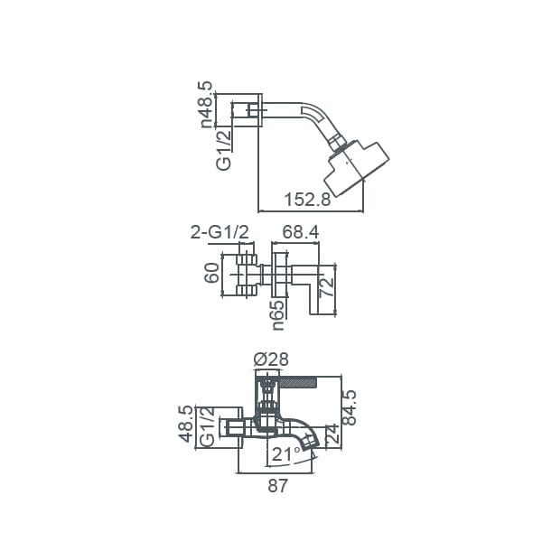 HCG Raven BF019CPX NC Technical Drawing