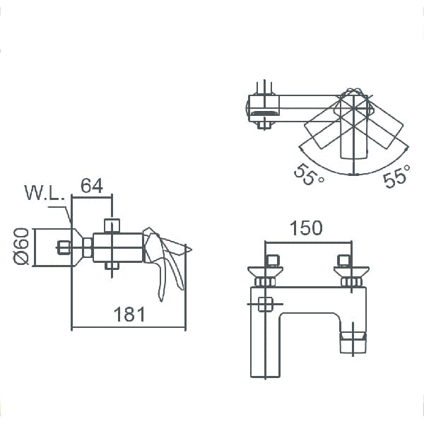 HCG Othello BF0906PX NC Technical Drawing