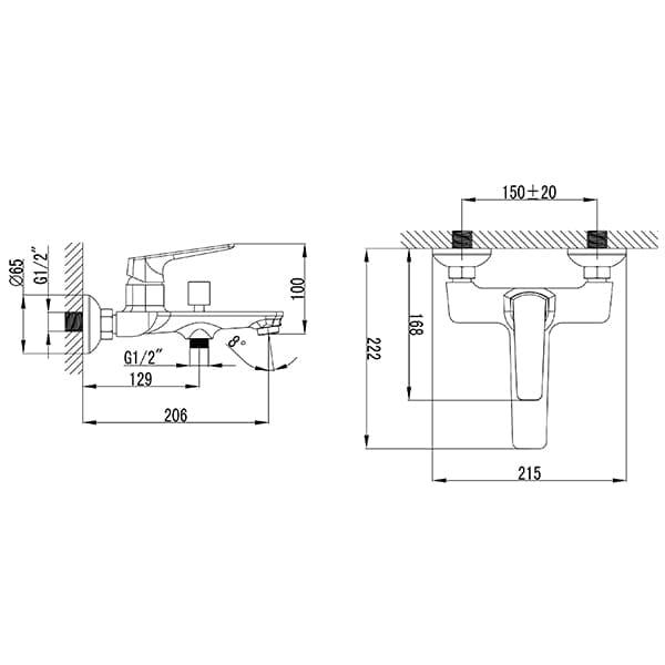 HCG Marsh BF23481PX NC Technical Drawing