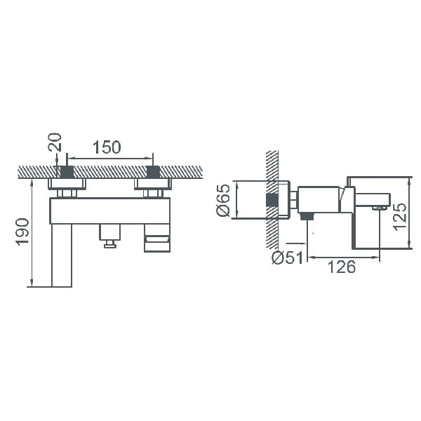 HCG F7 BF7000PX NC Technical Drawing