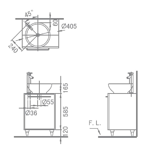 HCG Legend L4001 AW Technical Drawing