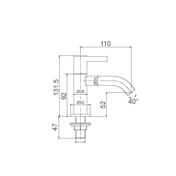 HCG Raven LF005PX NC Wash Basin Faucet