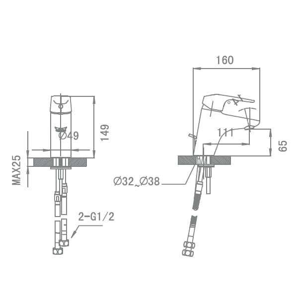 HCG Aovergne LF1002PX NC Technical Drawing