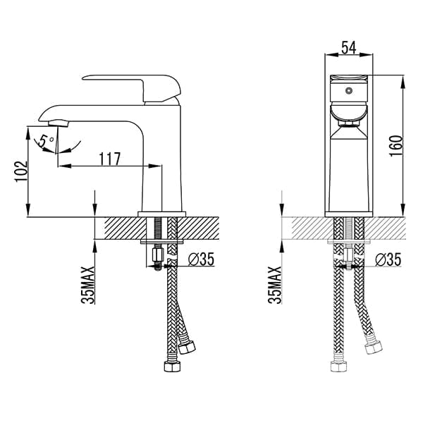 HCG Freya_LF16431PX_NC Technical Drawing
