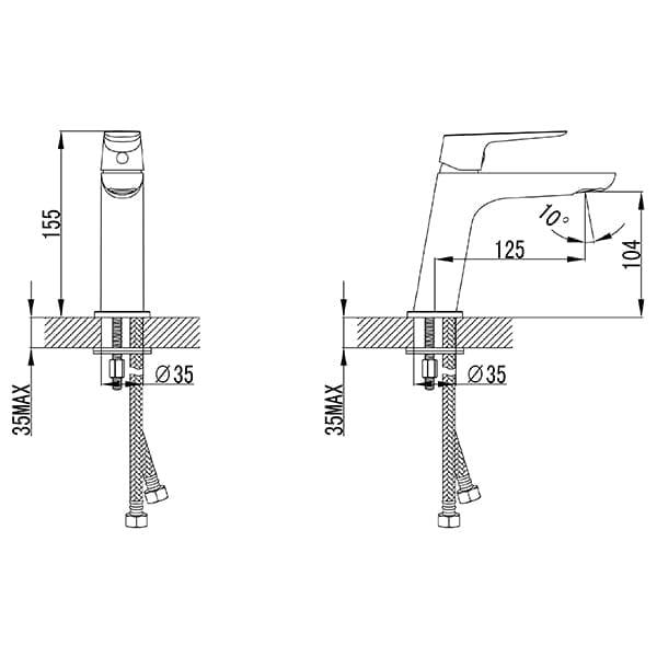 HCG Enoch LF16477PX NC Technical Drawing