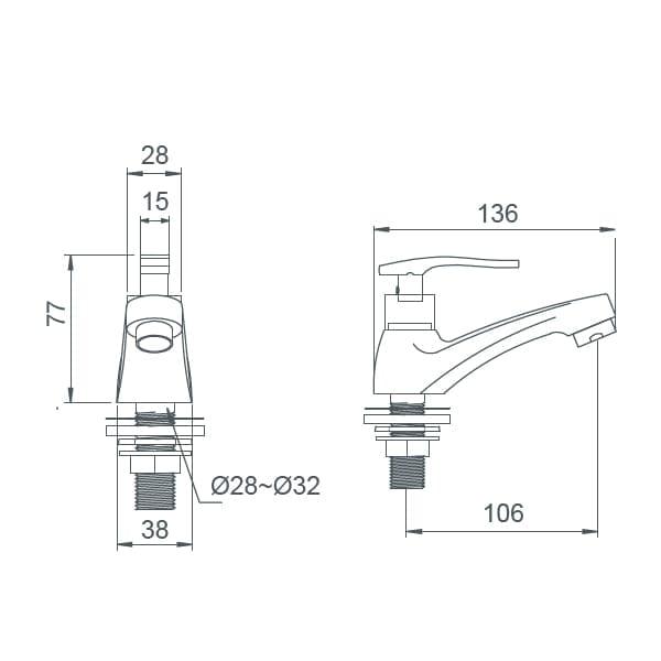 HCG Amazona LF3186PX NC Technical Drawing