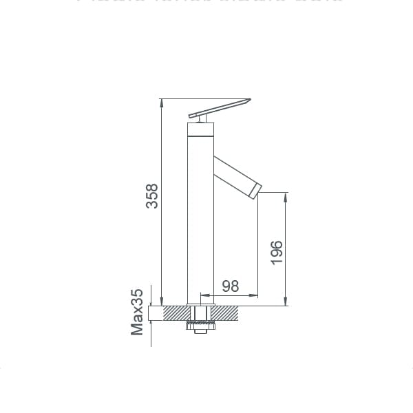 HCG F5 LF5001FPX NC Technical Drawing