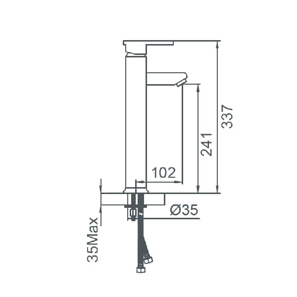 HCG F7 LF7001PX NC Technical Drawing