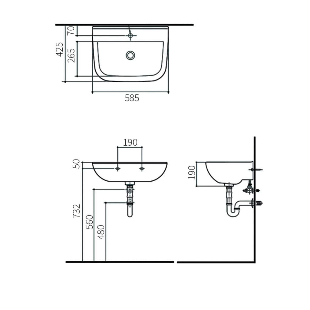 HCG Alea L70S AW Technical Drawing