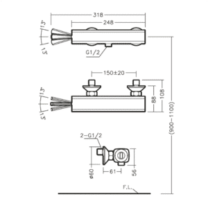 BRYAN BF1401PX TECHNICAL DRAWING