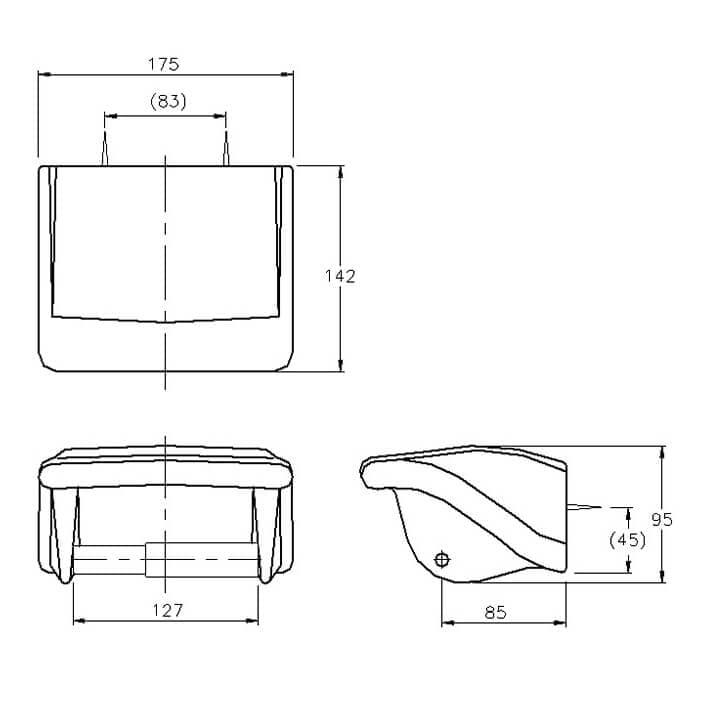BA2728 tissue paper holder