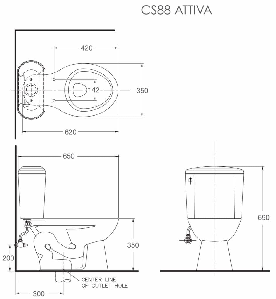 Attiva_CS88 AW_toilet bowl spec