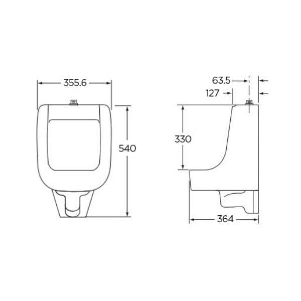 Gerber Clinton G0027750 GW Urinal