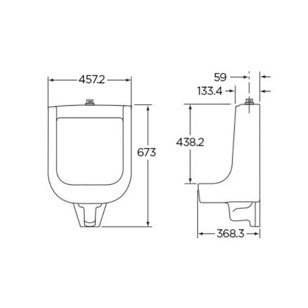 Gerber Hamilton G0027770 GW Urinal for Commercial Use