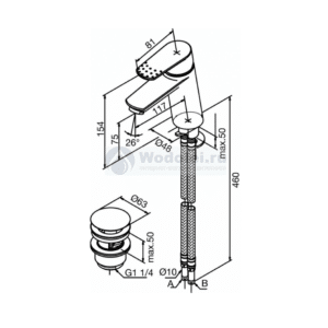Clover 608470000 NC Technical Drawing