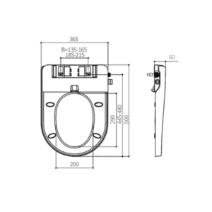 HCG iWash AF8900aw Technical Drawing