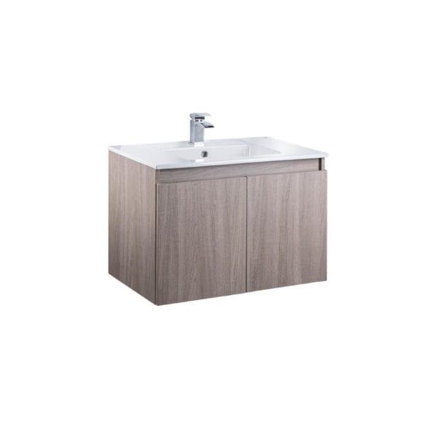 HCG Hilton LCA8056WH DK Wall Hung Bathroom Lavatory Cabinet