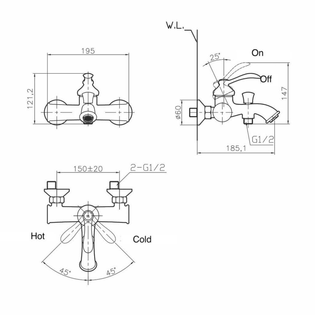 HCG Riff BF0106PX basin faucet