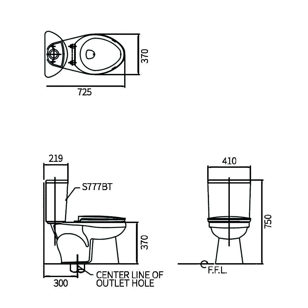 HCG Cezanne CS995PB Technical Drawing