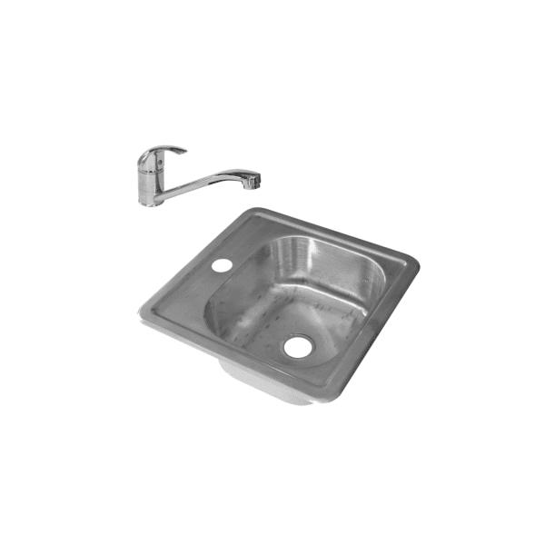 HCG OEC2230 NC Square Kitchen Sink
