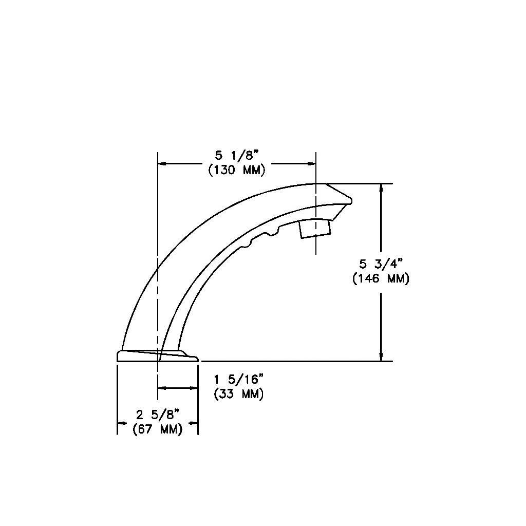 Sloan ETF-80 NC Sensor faucet Technical Drawing