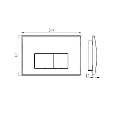 HCG G3004108 Dual Flush Panel