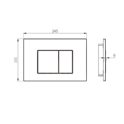 HCG G3004109S Flush Actuator technical drawing