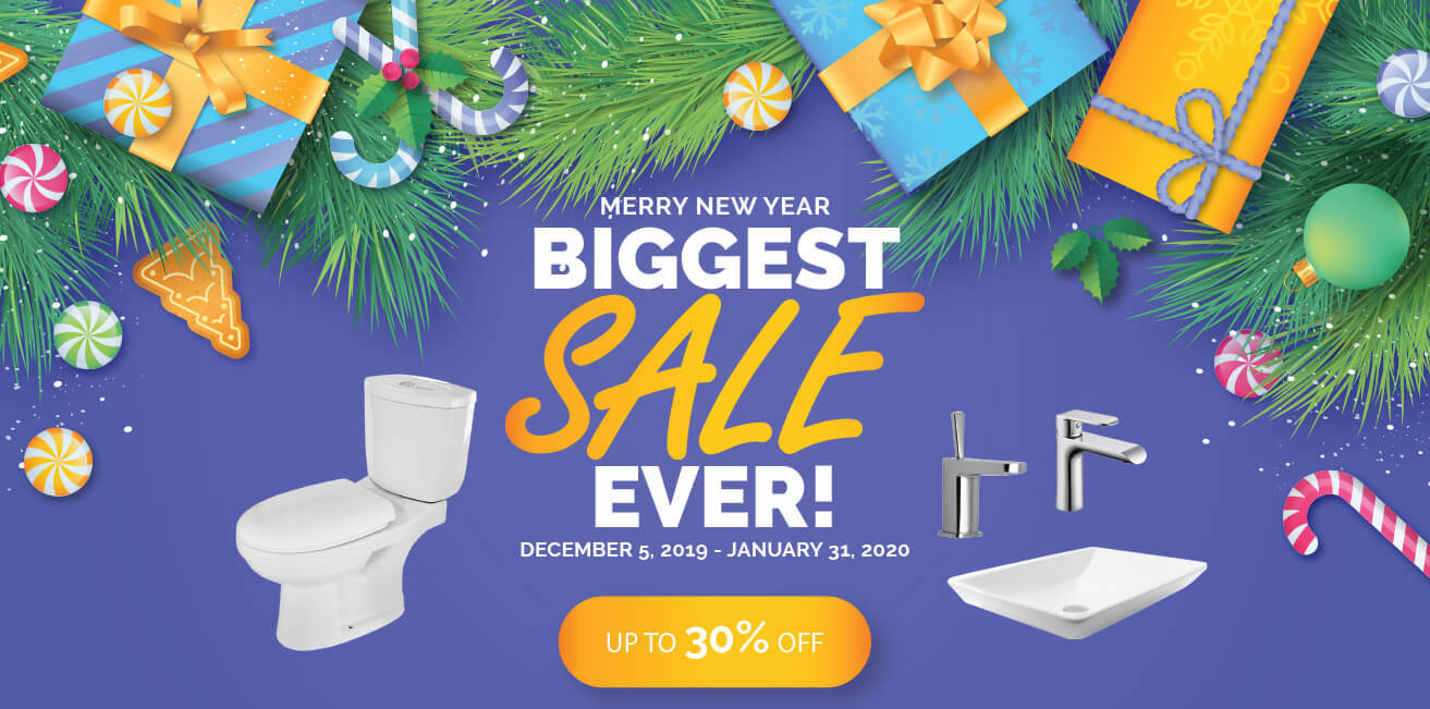 Merry New Year bathroom yep 2019 big sale