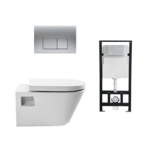 HCG Baden Package OEP5504 AW wall hung toilet flush cistern