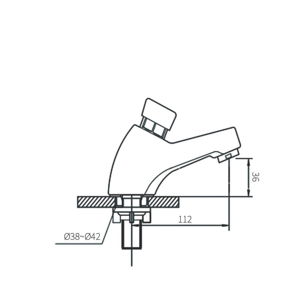 HCG Niagria LF3311PX Metering Faucet(Push Faucet)