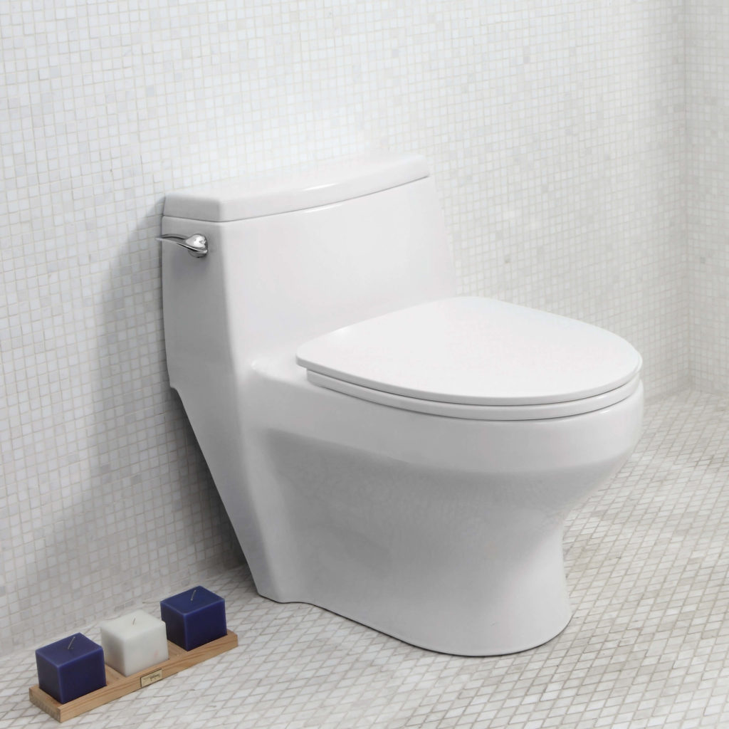 One-piece toilet