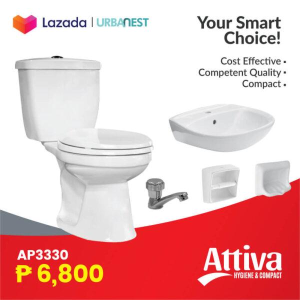 Attiva AP3330 toilet package