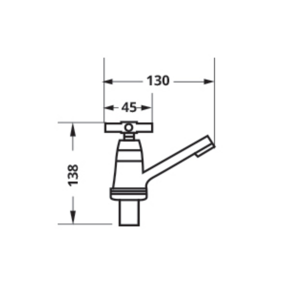 Attiva 3.3-L86PX faucet tap Technical Drawing
