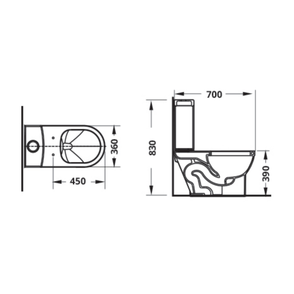 Attiva4.4 CS8193 technical drawing