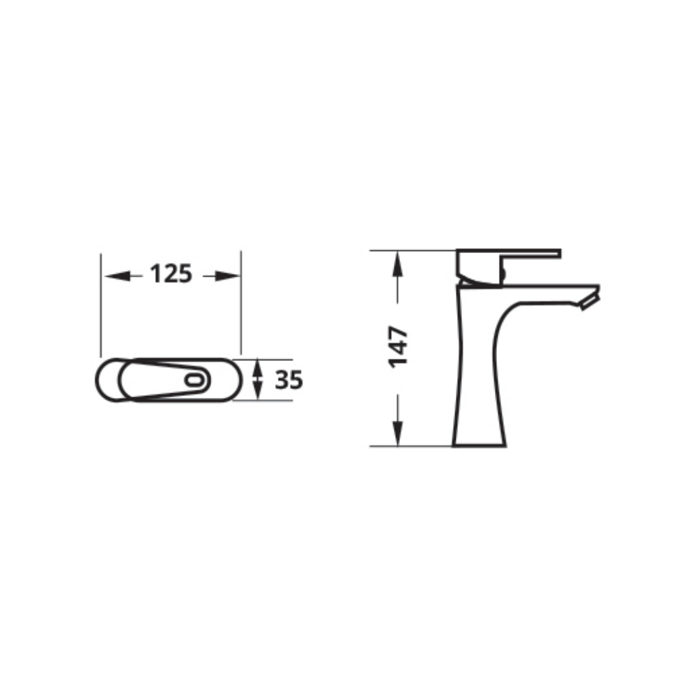 Attiva LF803PX faucet Technical Drawing