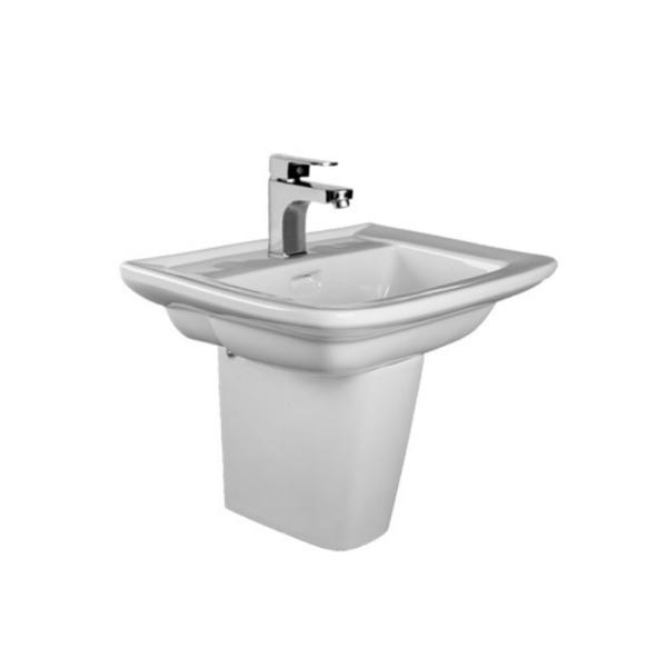 HCG Hilton LF90S wall hung short pedestal wash basin