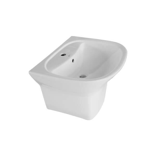 Attiva L3521S AW ceramic short pedestal lavatory