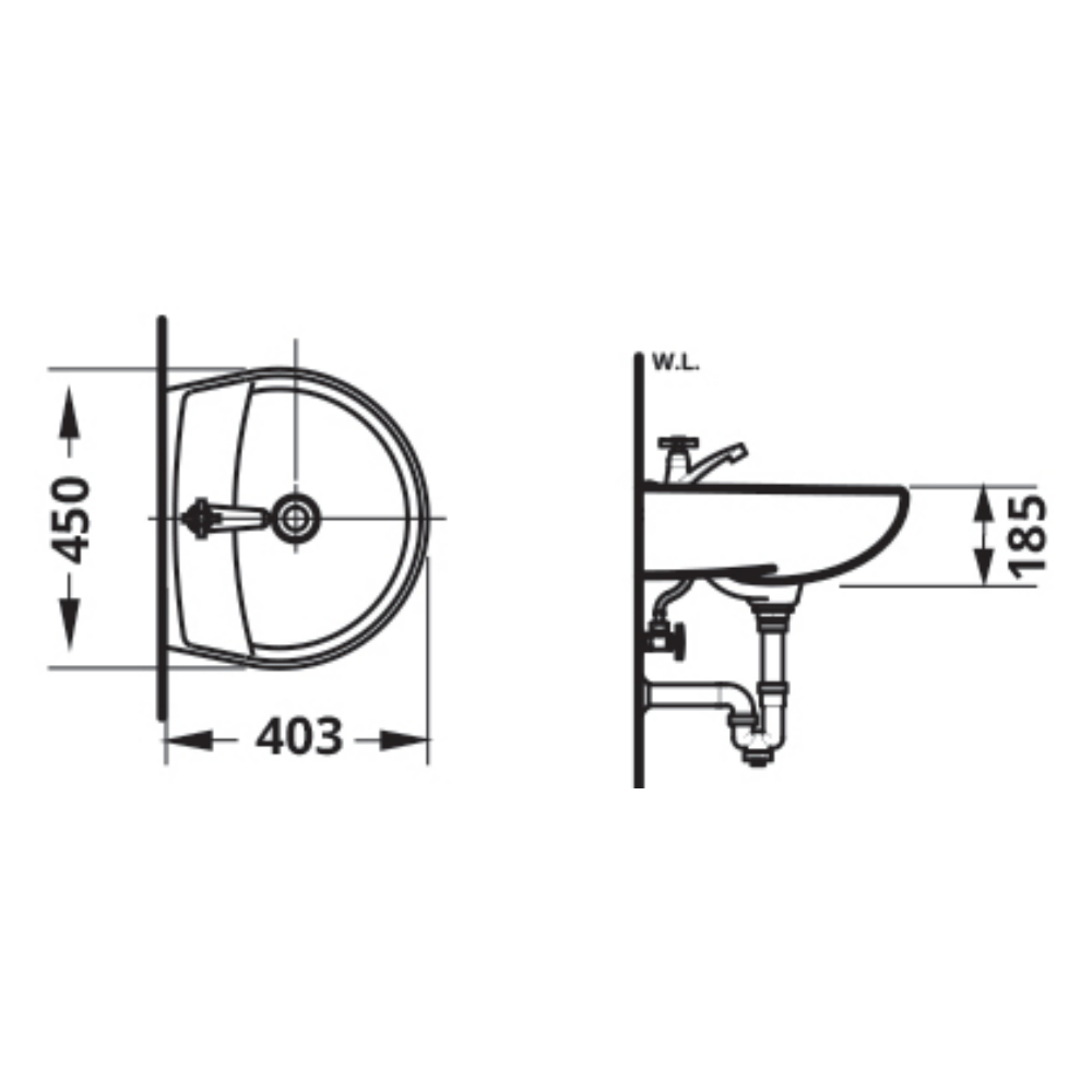 L58 AW WB Technical Drawing