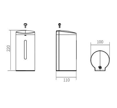 HCG SD1205 automatic soap dispenser