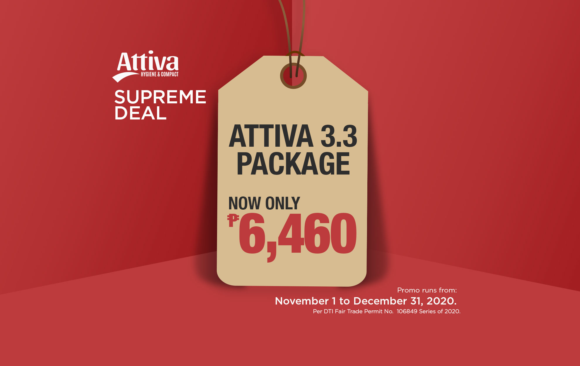 Attive 3.3 package promo