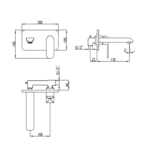FREYA – LF14431PX - TECHNICAL DRAWING