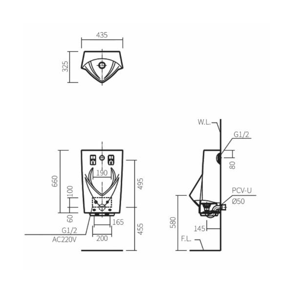 U2880HD TECHNICAL DRAWING