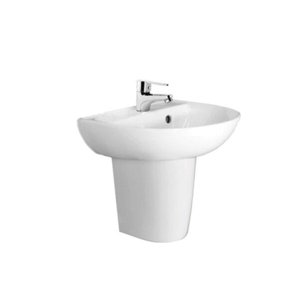 SATURN II – LF61S wash basin with short pedestal