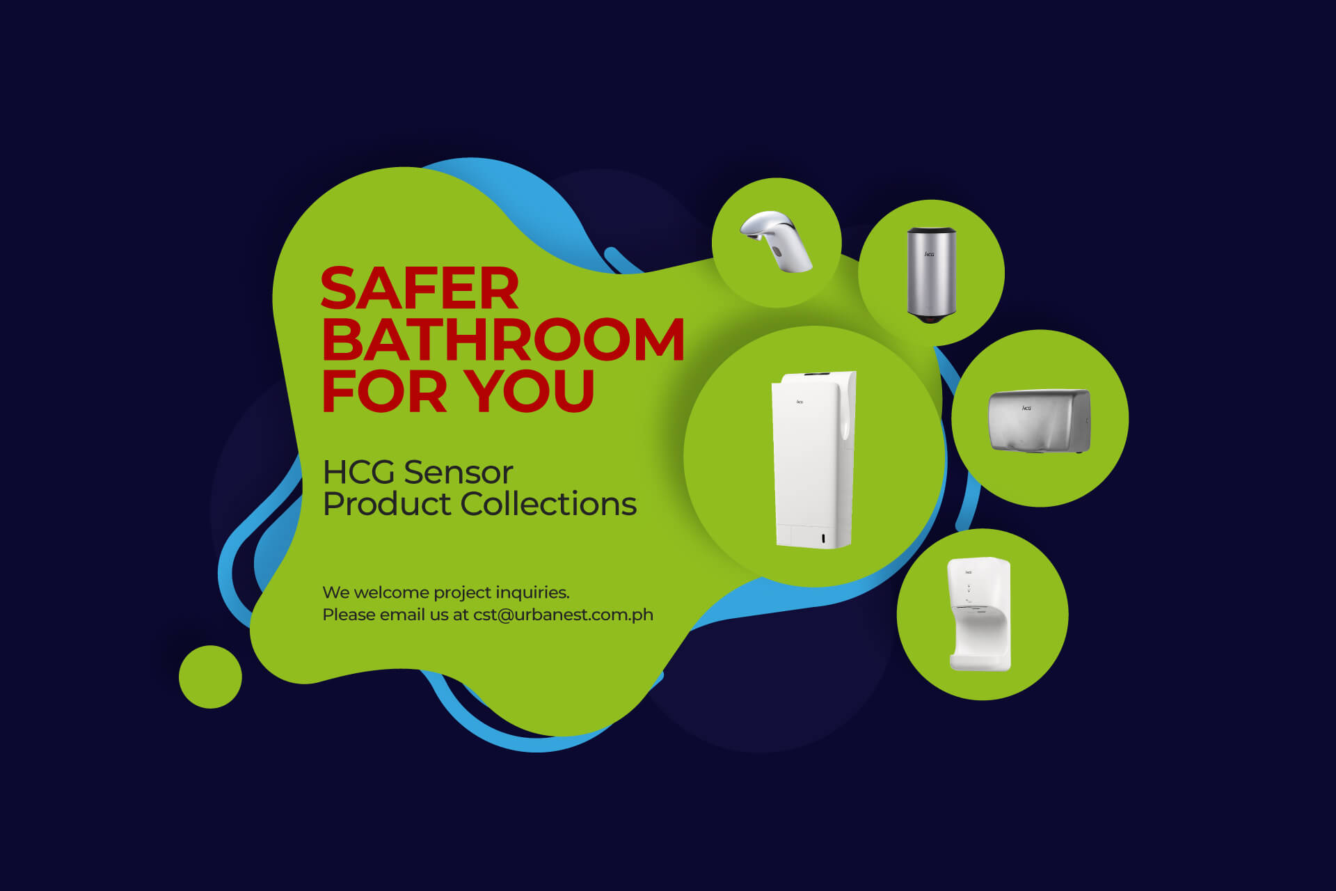 Sensor Product Banner-Safer bathroom for you