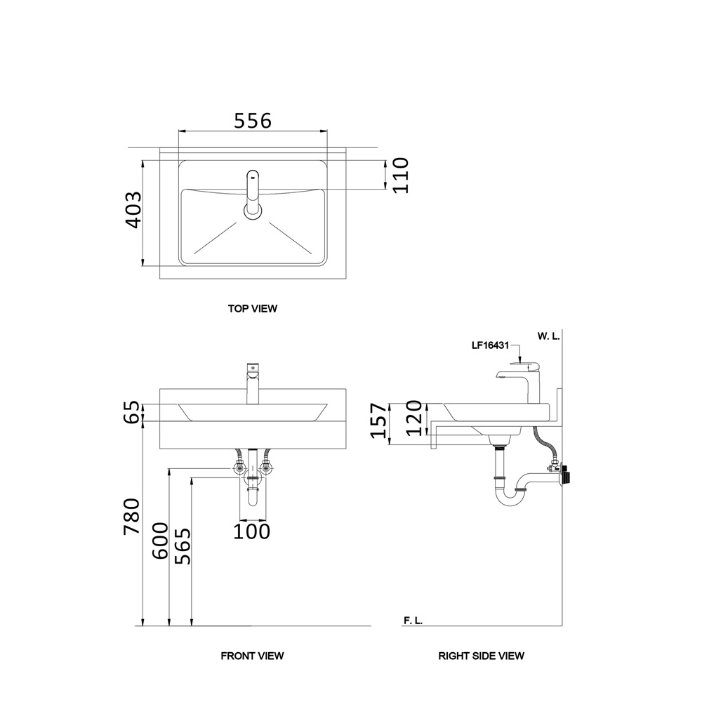 Verge L33S ( 35mm) AW Technical Drawing