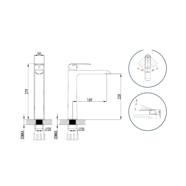 Freya LF15431PX NC Technical Drawing
