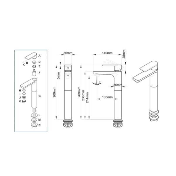 Enoch LF15477FPX NC Technical Drawing