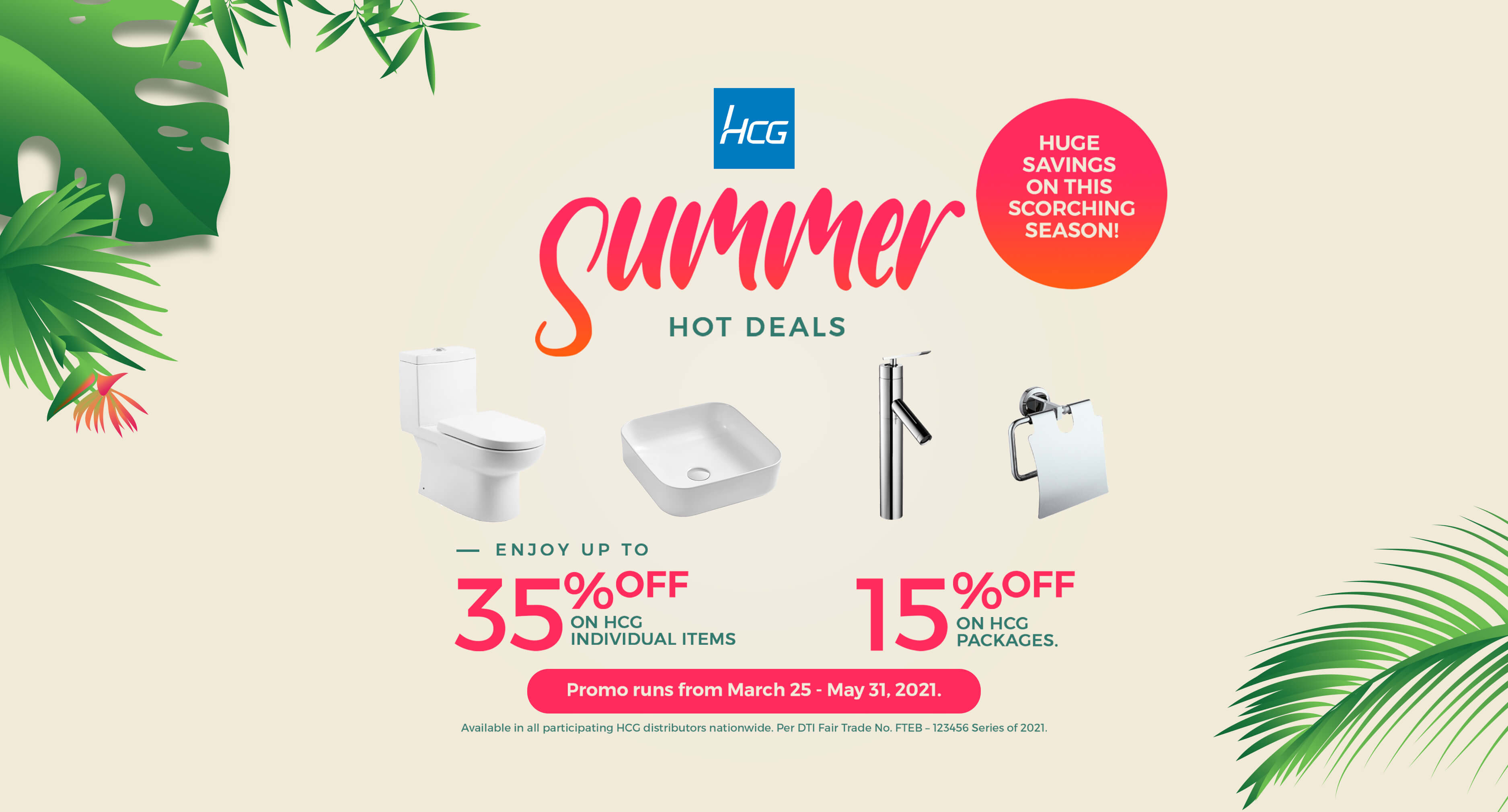 Summer Hot Deals 2021 Mar.25-May.31