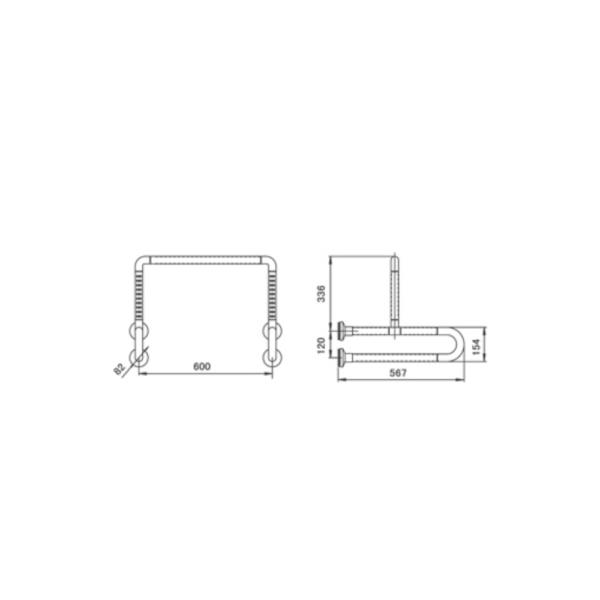 GB900U2-56-AW TECHNICAL DRAWING
