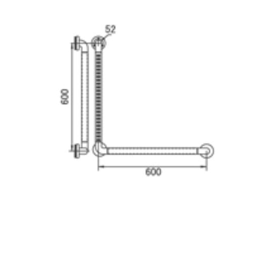 HCG GB400-60 AW L-type anti-bacterial ABS grab bar